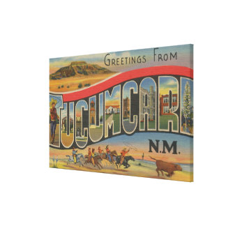 Tucumcari, New Mexico - Large Letter Scenes Canvas Print