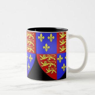 TUDOR COAT OF ARMS KING HENRY VIII. Two-Tone COFFEE MUG