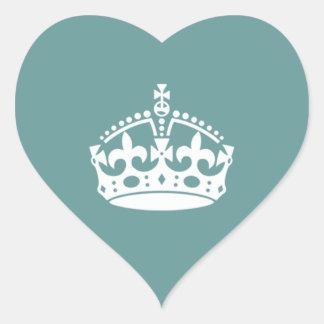 Tudor Crown Wedding Heart Sticker