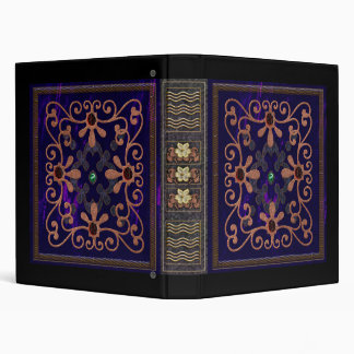 tudor era blue velvet 3 ring binder
