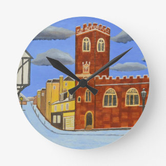 Tudor House in Exeter Round Clock