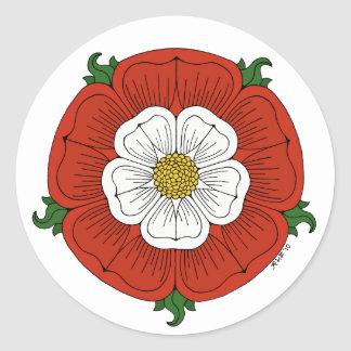 Tudor Rose Classic Round Sticker