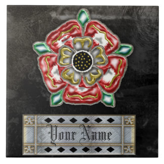 tudor rose family custom tile