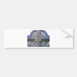 Tudor Rose Gravestone Bumper Sticker
