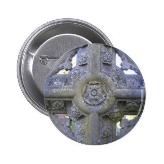 Tudor Rose Gravestone Buttons