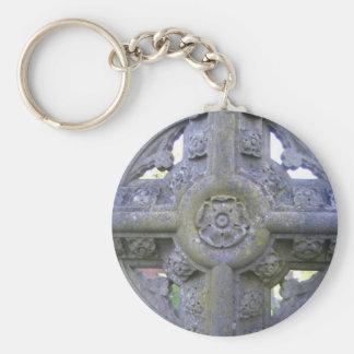 Tudor Rose Gravestone Keychain