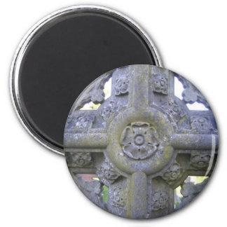 Tudor Rose Gravestone Magnet