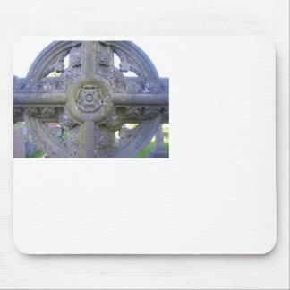 Tudor Rose Gravestone Mouse Pad