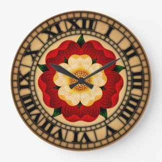 Tudor Rose Large Clock