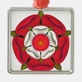 Tudor Rose Metal Ornament