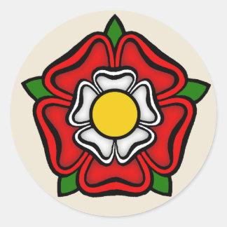 Tudor Rose of England, Emblem of Royalty Classic Round Sticker