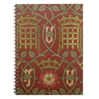 'Tudor Rose', reproduction wallpaper designed by S Notebook