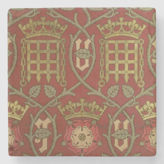'Tudor Rose', reproduction wallpaper designed by S Stone Coaster