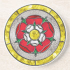 Tudor Rose Stained Glass Coaster