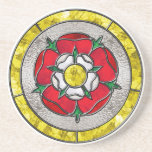 Tudor Rose Stained Glass Drink Coasters