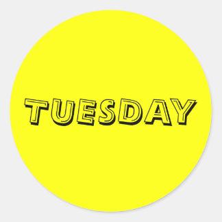 Tuesday Alphabet Soup Yellow Sticker by Janz