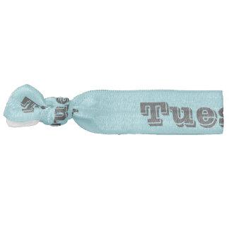 tuesday hair ornament blue and black hair tie