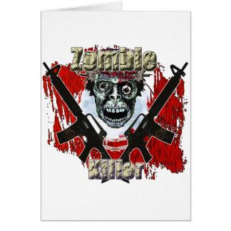 Tueur 4 de zombi carte de vœux