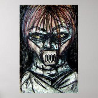 Tueur psychopathe de veste droite pour Halloween Poster