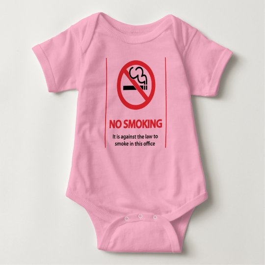 "Tuff Az Empire ""No Smoking"" Baby Jersey Bodysuit"