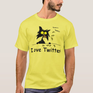 Tuff Kitty loves Twitter T-Shirt