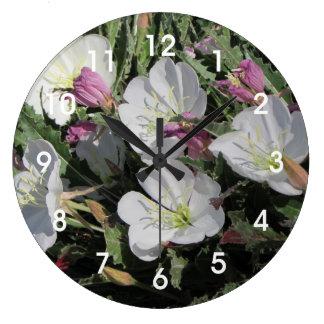 Tufted Evening Primrose Blooms Wallclocks