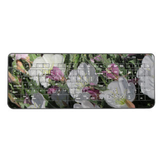 Tufted Evening Primrose Blooms Wireless Keyboard