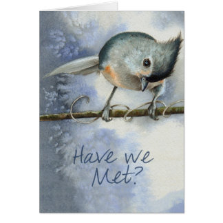 Tufted Titmouse Bird Card