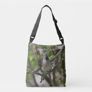 Tufted titmouse crossbody bag