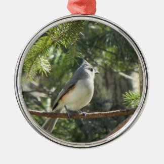 Tufted Titmouse Metal Ornament