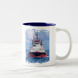 Tug Ahead Two-Tone Coffee Mug