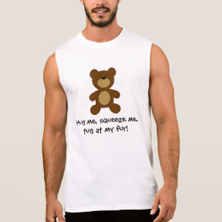 Tug at my fur Gay Bear Sleeveless Shirt