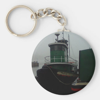 Tug Boat Foggy Day in Philly Keychain