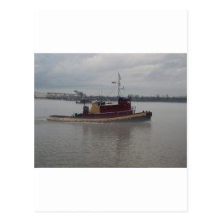 Tug Boat in the Fog Postcard
