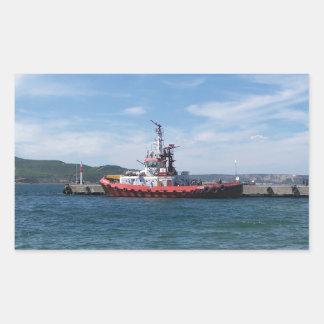 Tug In Harbor Sticker
