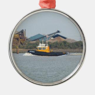 Tug SWS Breda Silver-Colored Round Ornament