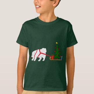 Tug the Samoyed pulling Christmas Tree T-Shirt