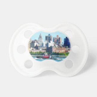 Tugboat Against Manhattan Skyline Pacifier
