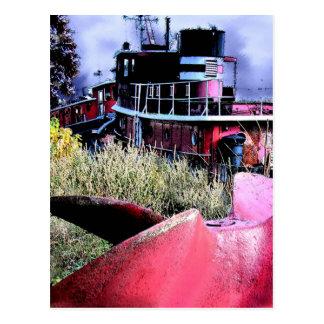 Tugboat Graveyard Postcard