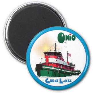 Tugboat Ohio 2 Inch Round Magnet