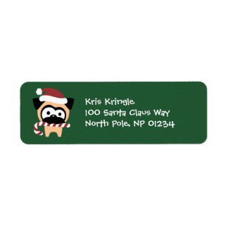 Tugg with Candy Cane Holiday Return Address Labels