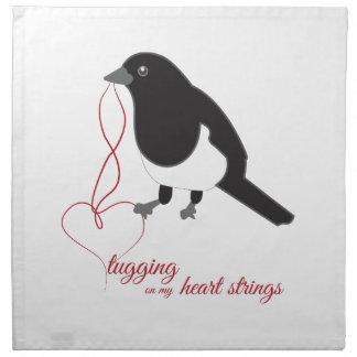Tugging Heart Strings Printed Napkins