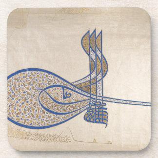 Tughra (Official Signature) of Sultan Süleiman Coaster