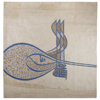 Tughra (Official Signature) of Sultan Süleiman Napkin