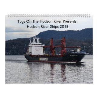 Tugs On The Hudson River With Hudson River Ships 2 Calendar