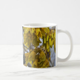 Tui on a Kowhai tree 2 Coffee Mug