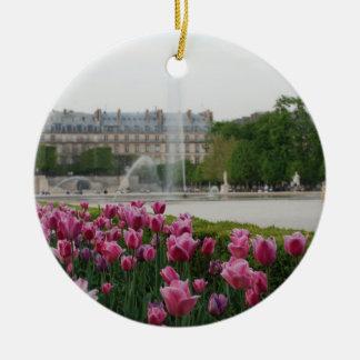 Tuileries Garden in bloom Ceramic Ornament