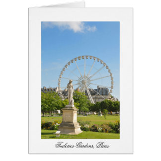 Tuileries gardens in Paris, France. Card