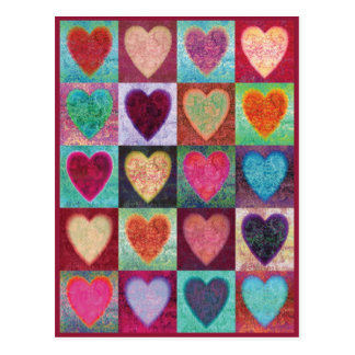 Tuiles d art de coeur carte postale