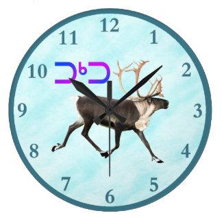 Tuktu - Caribou On Snow Large Clock